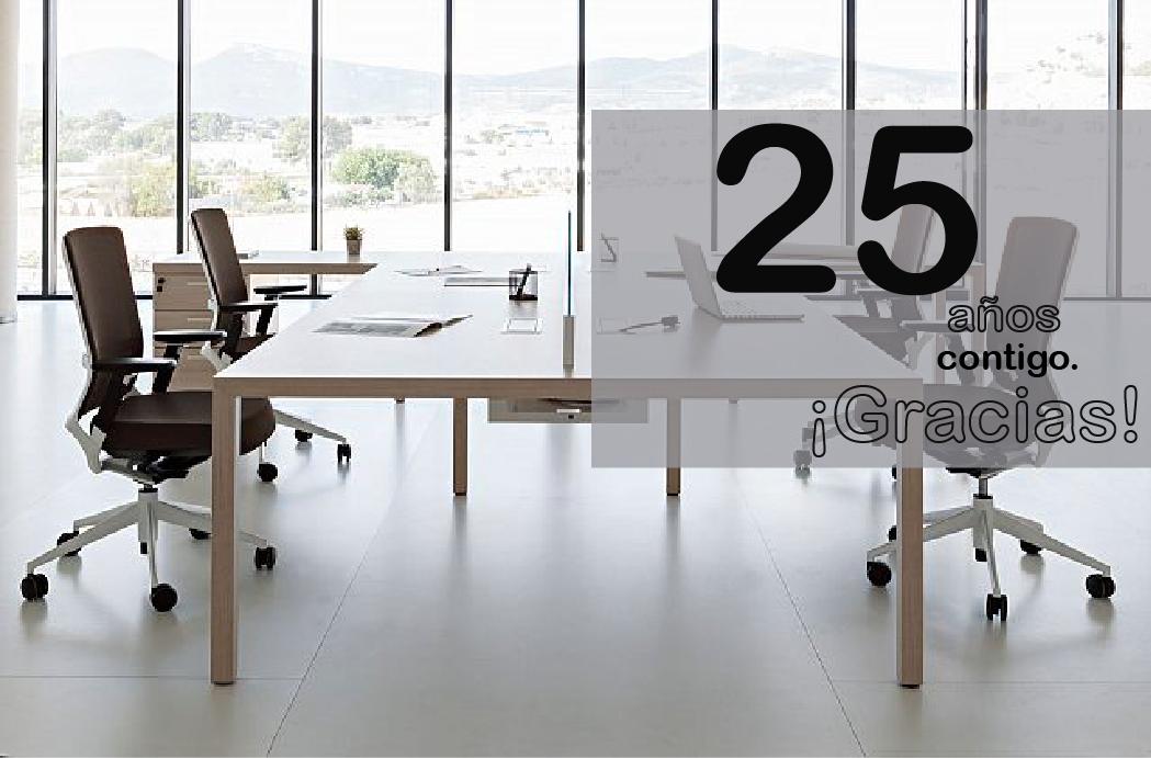 Oftega cumple 25 años como empresa dedicada al mobilliario de oficina