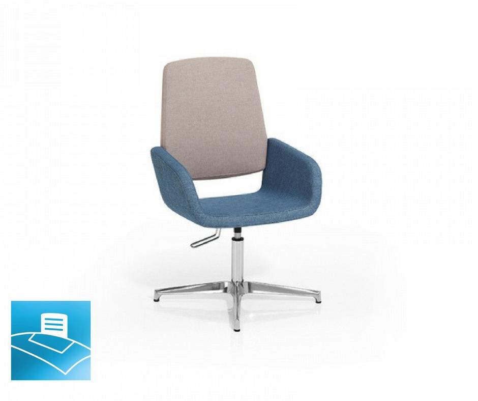 Confidente sillón color beige y azul