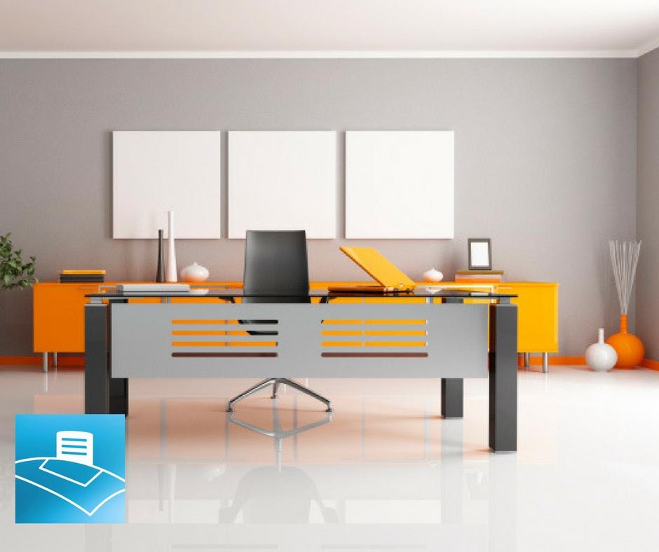 Adornos para una oficina minimalista