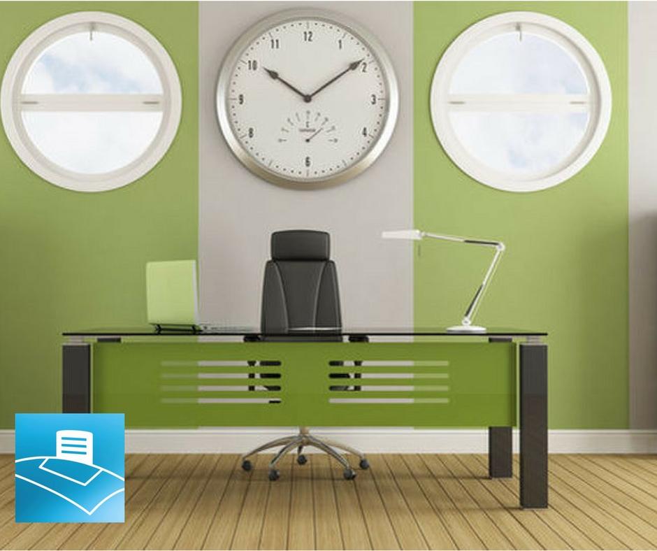 Oficina con color