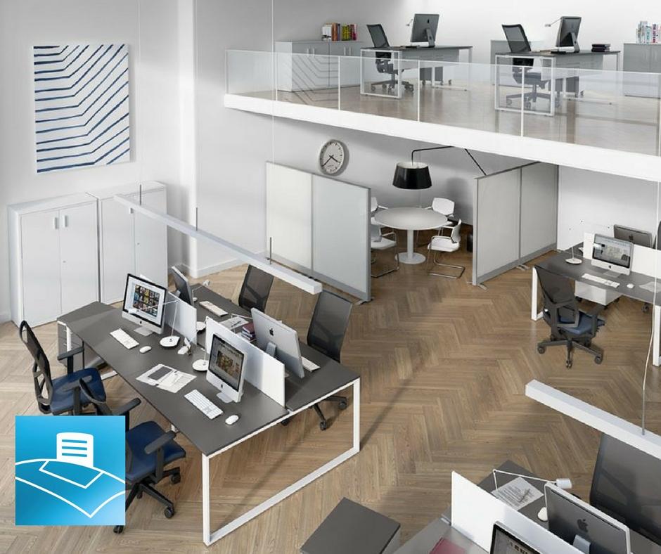 Sillas y mesas unipersonales y bench para oficinas
