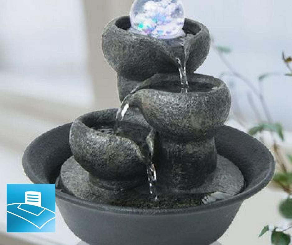 Fuente decorativa con agua para oficina
