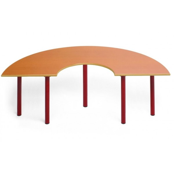 Mesa semicircular para educación infantil