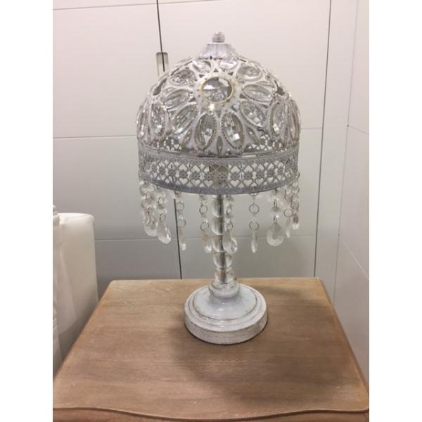 Lámpara mesa mteal vidrio